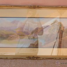 Varios objetos de Arte: PINTURA DE CONISTON LAKE AND OLD MAN, AUTOR ROLAND STEAD, ENMARCADO, MEDIDAS 47X100 CM. CON MARCO. Lote 43623627