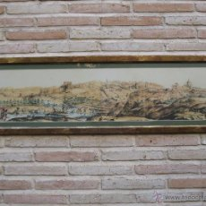 Varios objetos de Arte: CUADRO CON LAMINA EN COLOR QUE REPRODUCE UNA VISTA ANTIGUA DE TOLEDO.. Lote 43648098