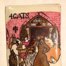 Varios objetos de Arte: 4 GATS, ESMALTE SOBRE CHAPA, PABLO PICASSO, AÑOS 50-60. Lote 44123128