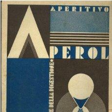 Varios objetos de Arte: EREBERTO CARBONI. PUBLICIDAD PARA APEROL. Lote 44380413