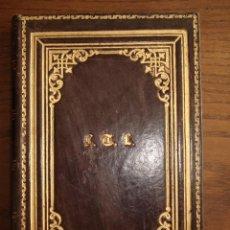 Varios objetos de Arte: LIBRO DIARIO - EN BLANCO - SIGLO XIX - PIEL REPUJADA Y DORADA. Lote 44424640
