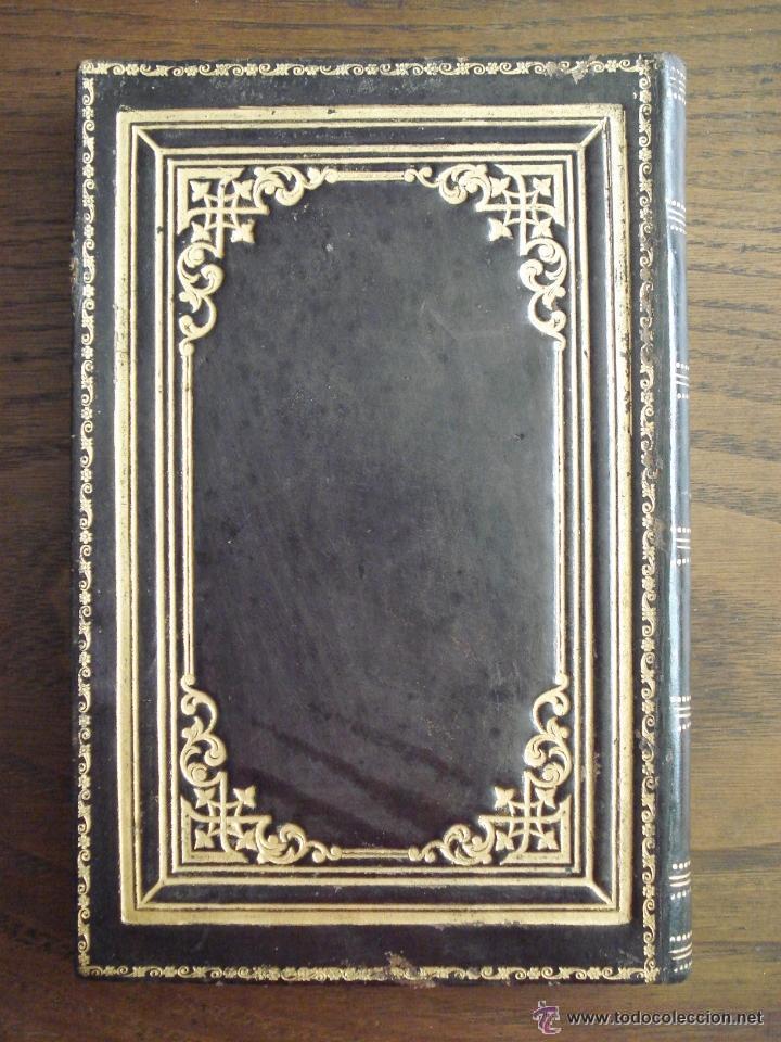 Varios objetos de Arte: LIBRO DIARIO - EN BLANCO - SIGLO XIX - PIEL REPUJADA Y DORADA - Foto 5 - 44424640