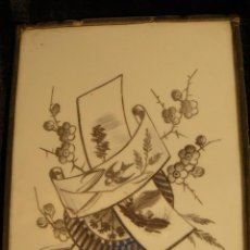 Varios objetos de Arte: OPALINA PINTADA A MANO. Lote 44494933