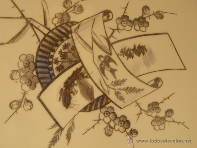 Varios objetos de Arte: OPALINA PINTADA A MANO - Foto 2 - 44494933