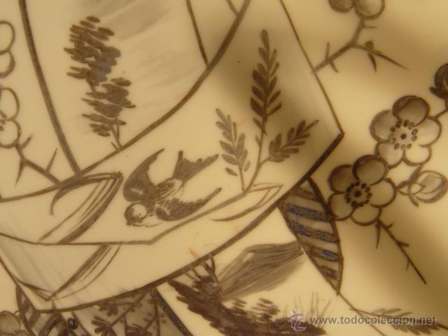 Varios objetos de Arte: OPALINA PINTADA A MANO - Foto 3 - 44494933