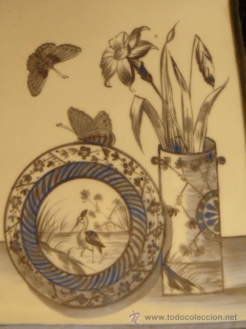 Varios objetos de Arte: OPALINA PINTADA A MANO - Foto 2 - 44495056