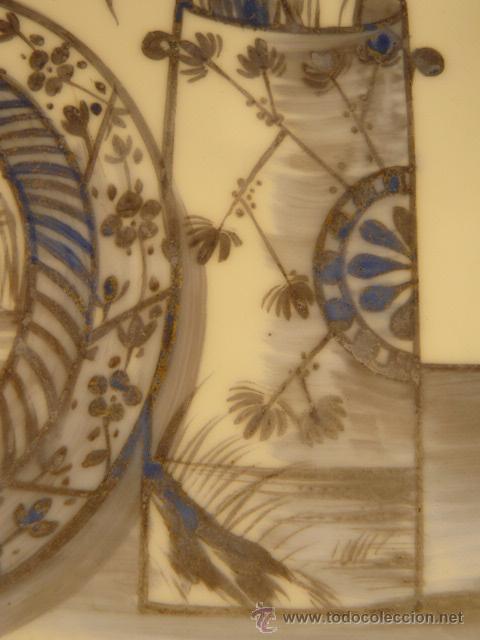 Varios objetos de Arte: OPALINA PINTADA A MANO - Foto 5 - 44495056