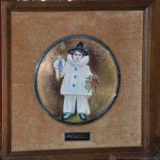 Varios objetos de Arte: PICASSO ESMALTE SOBRE COBRE DE 1960 APROX.. Lote 44704313
