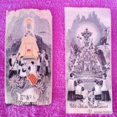 Varios objetos de Arte: 2 JACQUARDS ORIGINALS DE NOSTRA SENYORA DE MONTSERRAT XIX (14X6). Lote 44739598