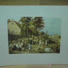 Varios objetos de Arte: LAMINA CON GRABADO . Lote 44747000