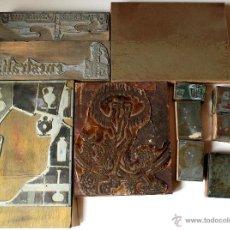 Varios objetos de Arte: LOTE 14 PLANCHAS DE GRABADO ANTIGUAS, VARIOS TAMAÑOS. Lote 44809818
