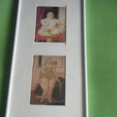 Varios objetos de Arte: CUADRO CON TRES POSTALES DE BOTERO. Lote 44846331
