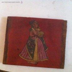 Varios objetos de Arte: INDIA PINTURA SOBRE TABLA. Lote 42509673