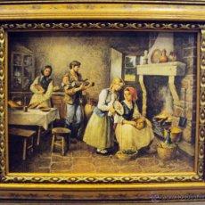 Varios objetos de Arte: CUADRO ESCENA FAMILIAR. Lote 45402800