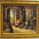 Varios objetos de Arte: CUADRO ESCENA -A LA LUZ- EN BODEGA. Lote 45402946