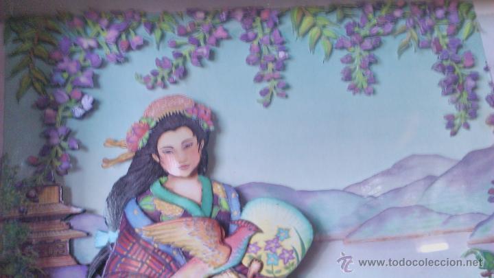 Varios objetos de Arte: Precioso cuadro Geisha en 3D . Capas sobrepuestas. Enmarcado. - Foto 5 - 45489007