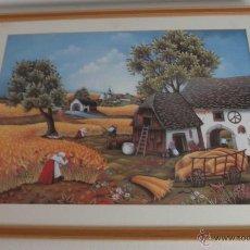 Varios objetos de Arte: PINTURA RUSA ENMARCADA DEL PINTOR LYUBA STOLFAS AÑO 1985. Lote 45562408