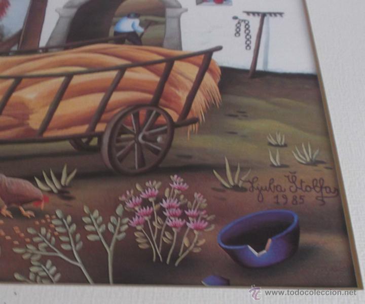 Varios objetos de Arte: pintura Rusa enmarcada del pintor Lyuba Stolfas año 1985 - Foto 2 - 45562408