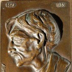 Varios objetos de Arte: HENRI BARBUSSE (1873-1935), POR C. E. HABY. BRONCE,. CON PIE TRASERO. Lote 45594674