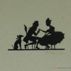 Varios objetos de Arte: (M-LAM12) FILIGRANA PAPEL RECORTADO ALEMAN , FIRMADA ILEGIBLE , ESPECTACULAR !!!. Lote 45628621