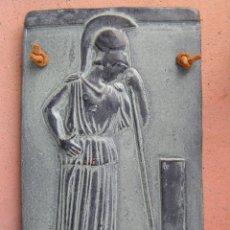 Varios objetos de Arte: MINERVA MEDITANDO. TERRACOTA POLICROMADA Y FIRMADA.REPRODUCCIÓN DEL MUSEO DE LA ACRÓPOLIS DE ATENAS.. Lote 45988088