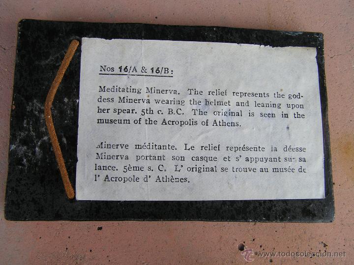 Varios objetos de Arte: MINERVA MEDITANDO. TERRACOTA POLICROMADA Y FIRMADA.Reproducción del Museo de la Acrópolis de Atenas. - Foto 6 - 45988088