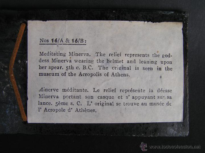 Varios objetos de Arte: MINERVA MEDITANDO. TERRACOTA POLICROMADA Y FIRMADA.Reproducción del Museo de la Acrópolis de Atenas. - Foto 7 - 45988088