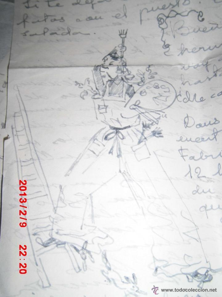 AUTORRETRATO RAFAEL REYES TORRENT DIBUJO CARTA PINTOR PINTURA VALENCIANA MADRILEÑA (Arte - Varios Objetos de Arte)