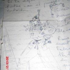 Varios objetos de Arte: AUTORRETRATO RAFAEL REYES TORRENT DIBUJO CARTA PINTOR PINTURA VALENCIANA MADRILEÑA. Lote 46103017