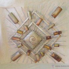 Varios objetos de Arte: CUADRO ABSTRACTO EN HIERRO. Lote 46122202