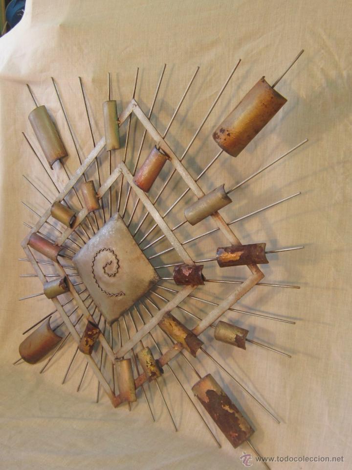 Varios objetos de Arte: CUADRO ABSTRACTO EN HIERRO - Foto 2 - 46122202