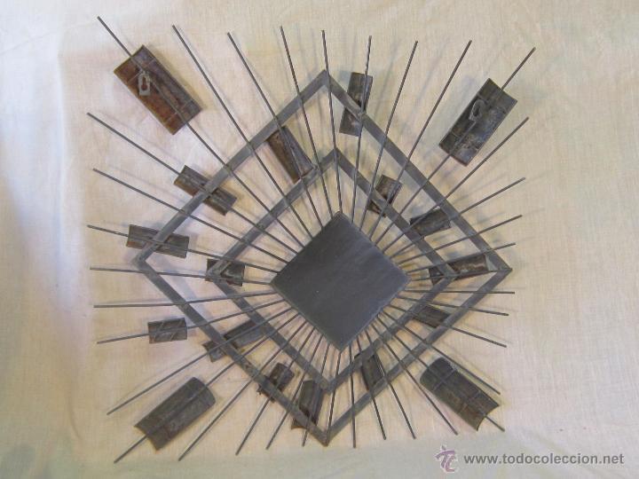 Varios objetos de Arte: CUADRO ABSTRACTO EN HIERRO - Foto 5 - 46122202