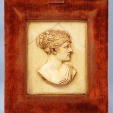 Varios objetos de Arte: ALTO RELIEVE ALTORRELIEVE ESCAYOLA EFIGIE DAMA GM CURTICE NEORRENACENTISTA S XIX. Lote 46191454