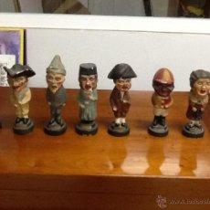Varios objetos de Arte: 7 CABEZUDOS EN YESO POLICROMADO, ZARAGOZA, FIESTAS DEL PILAR, AÑOS40-50. Lote 46383955