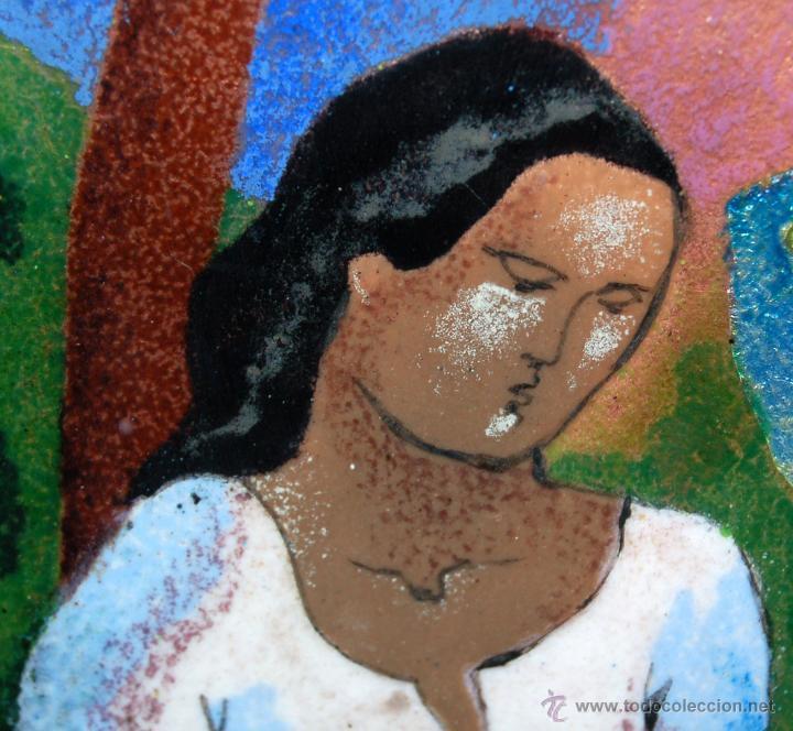 Varios objetos de Arte: MONTSERRAT MAINAR BENEDICTO (Barcelona, 1928) ESMALTE. ALEGORÍA A LA PRIMAVERA - Foto 3 - 46395529