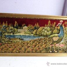 Varios objetos de Arte: ANTIGUO, RARO Y BONITO TAPIZ ENMARCADO, COMPLETO Y BUEN ESTADO Y GRANDE. Lote 46423897