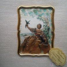 Varios objetos de Arte: CUADRO CON PLACA DAMA EN PLATA DE LEY. Lote 46492332