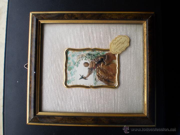 Varios objetos de Arte: CUADRO CON PLACA DAMA EN PLATA DE LEY - Foto 3 - 46492332
