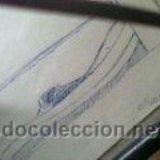Varios objetos de Arte: ANTIGUO DIBUJO BARCA FIRMA CLIMENT ALICANTE PINTOR. Lote 46508094