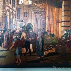 Varios objetos de Arte: ESCENA ARABE SOBRE PLANCHA DE COBRE. Lote 46625941