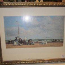 Varios objetos de Arte: LÁMINA ENMARCADA CON PINTURA DE EUGENE BOUDIN.. Lote 46759385
