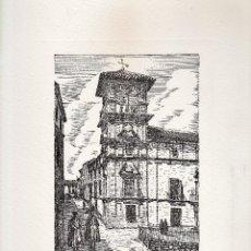 Varios objetos de Arte: LAMINA - LITOGRAFIA / GRABADO - ANTEQUERA - PALACIO DE NAJERA - GRABADOR PP . Lote 47010175