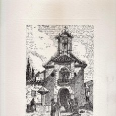 Varios objetos de Arte: LAMINA - LITOGRAFIA / GRABADO - ANTEQUERA - PLAZA DE SANTIAGO - GRABADOR PP . Lote 47010188