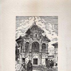 Varios objetos de Arte: LAMINA - LITOGRAFIA / GRABADO - ANTEQUERA - CAPILLA VOTIVA DE NTRA. SRA. DEL SOCORRO - GRABADOR PP . Lote 47010220