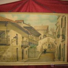 Varios objetos de Arte: CARTEL DE TELA EXPOSICION INTERNACIONAL DE BARCELONA AÑO 1929. Lote 47081598