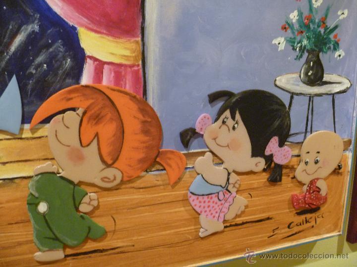 Varios objetos de Arte: Familia Telerin Precioso óleo mixto personalizado regalo perfecto ideal decoracion infantil - Foto 4 - 47082891