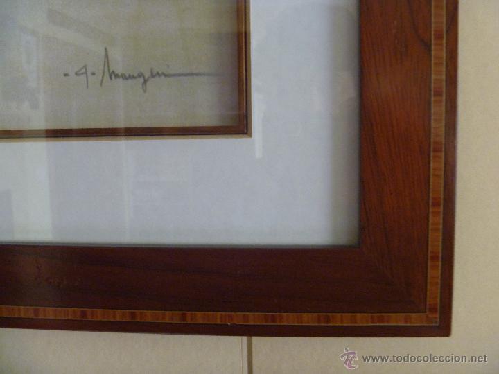 Varios objetos de Arte: Preciosa acuarela Alferio Maugeri lámina grabada - Foto 3 - 47342758