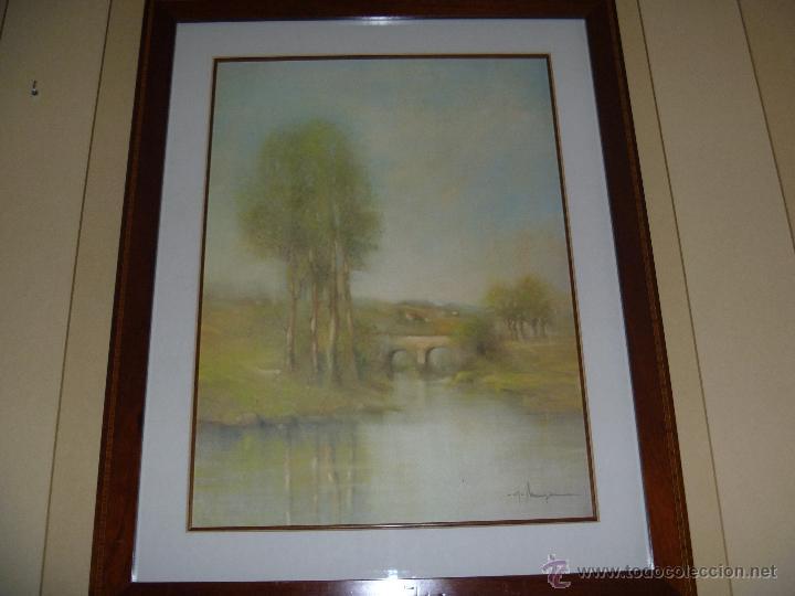 Varios objetos de Arte: Preciosa acuarela Alferio Maugeri lámina grabada - Foto 4 - 47342758