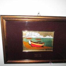 Varios objetos de Arte: CUADRO CON CRISTAL-PINTURA-DANILO-PASPARTÚS-SOBRE ORO 22 KTS-PINTADO A MANO-35X25-15,5X10 CMS-VER F. Lote 47709448