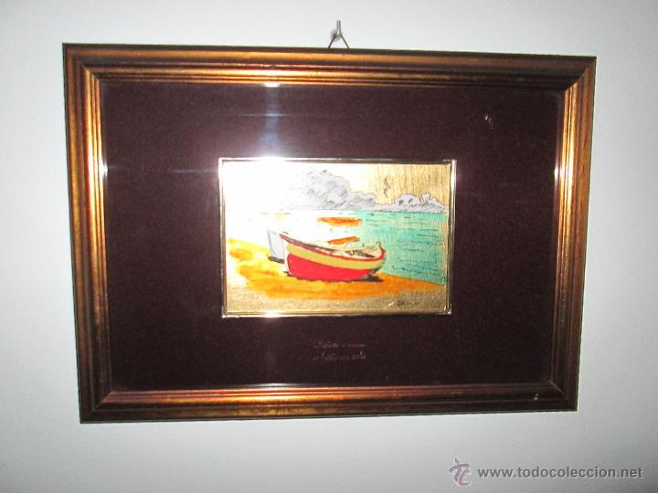 Varios objetos de Arte: CUADRO CON CRISTAL-PINTURA-DANILO-PASPARTÚS-SOBRE ORO 22 KTS-PINTADO A MANO-35X25-15,5X10 CMS-VER F - Foto 6 - 47709448